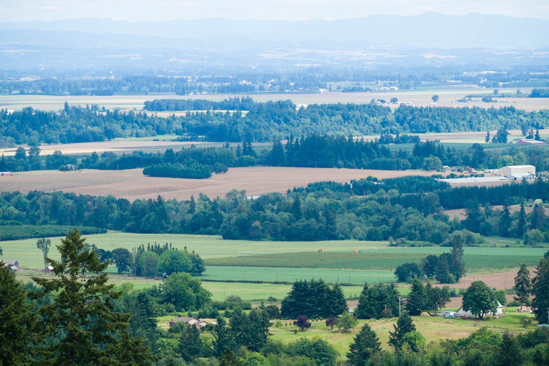 Overlooking Oregon and the farmland