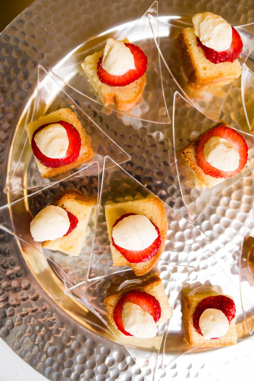 Strawberry shortcake catered