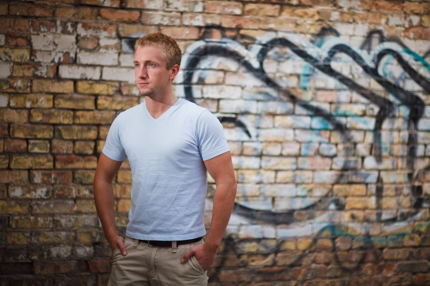 It's fun to find an alleyway for portraits especially with graffiti