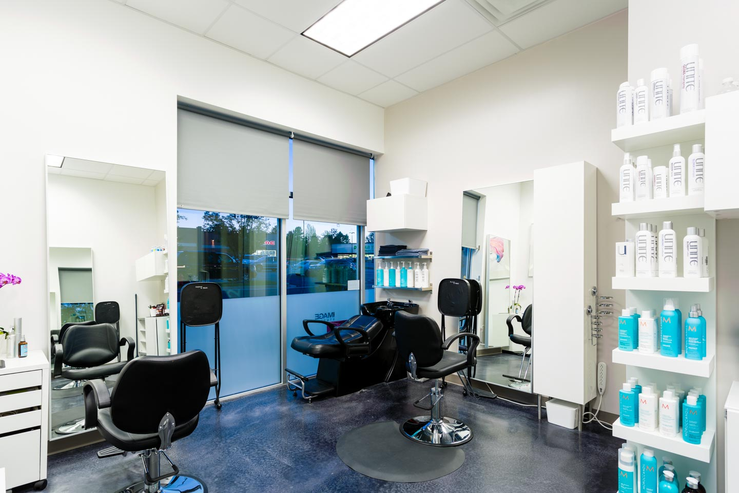 Photographing a sample of the hair salons at Image Studios