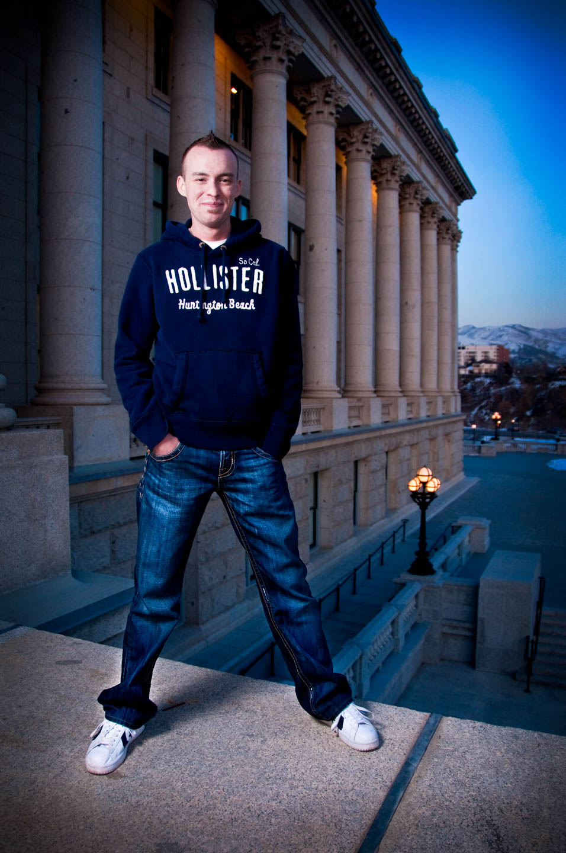 Brady at the Utah State Capitol