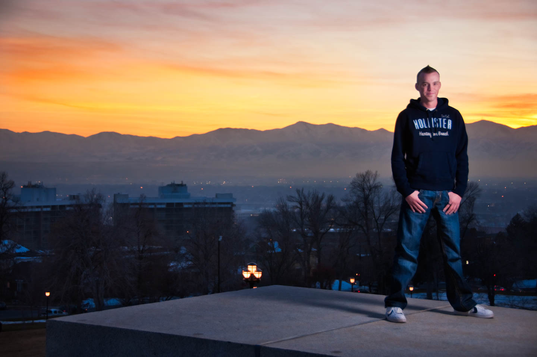 Brady overlooking the Salt Lake Valley