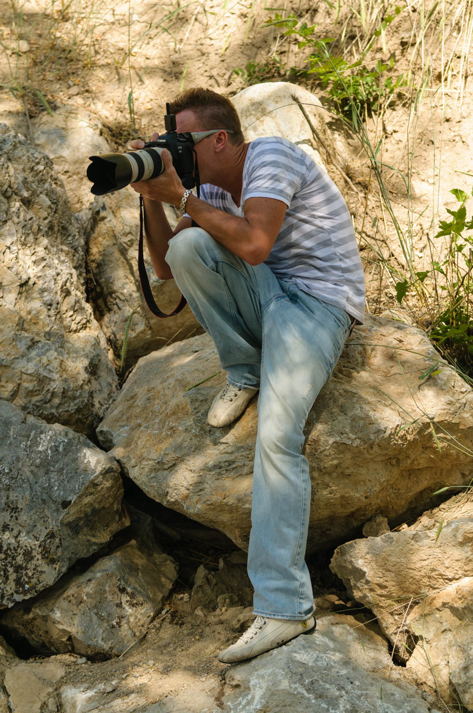Brian photographs with a Canon 5D Mark 2 and his camera caused me to switch to Canon
