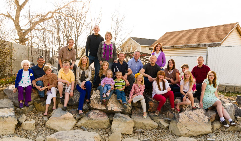 The Bush grandparents, siblings, and grandchildren