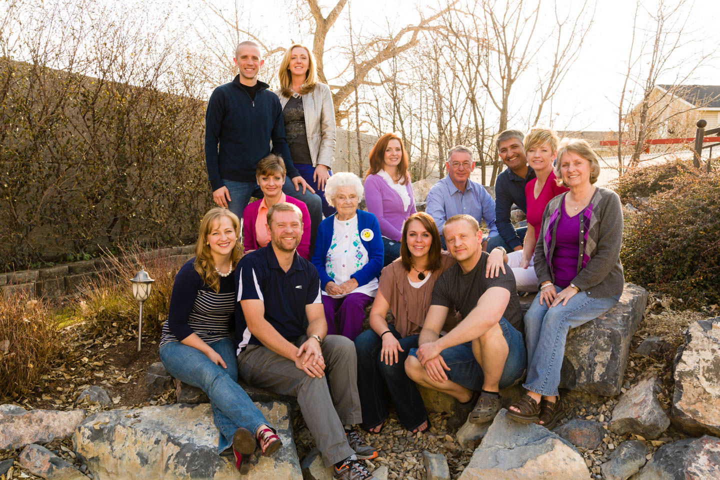 Bush family with their spouses