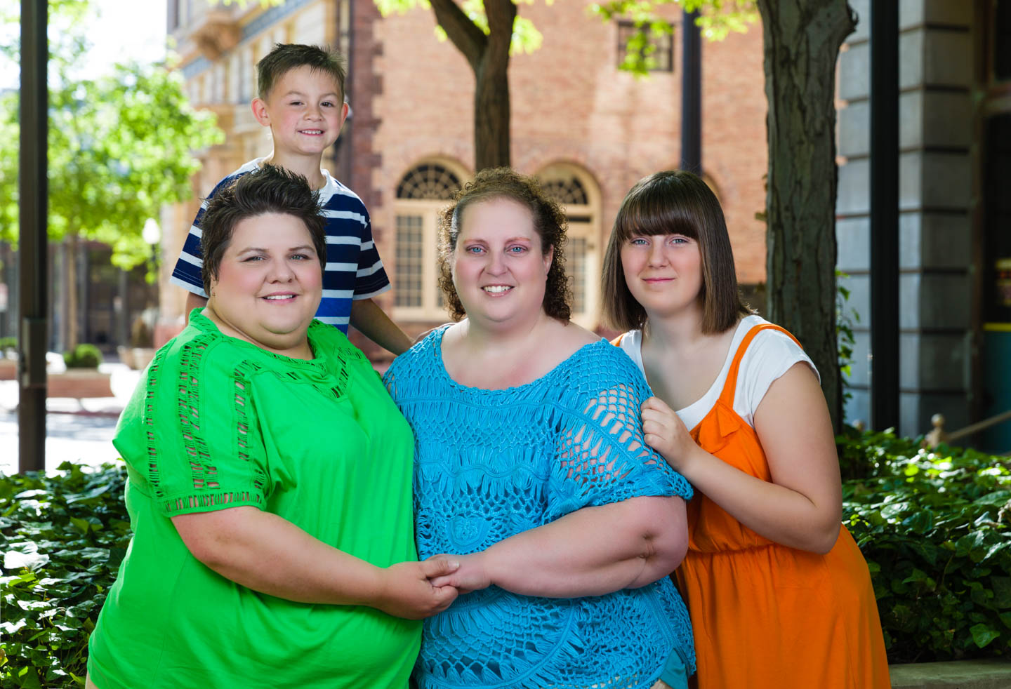 Celina, Jen, and their family for their engagement photos