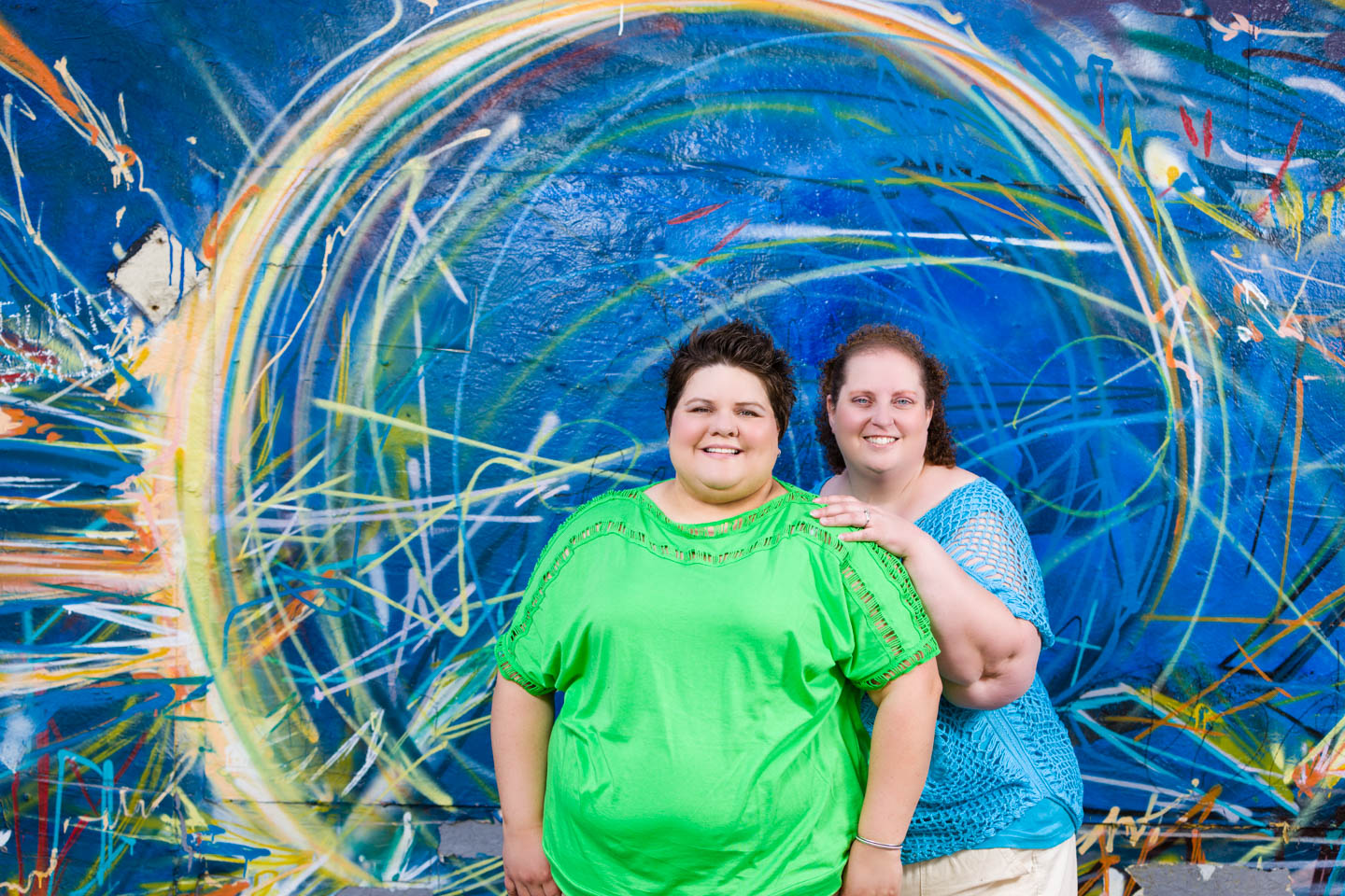 Celina and Jen and some graffiti