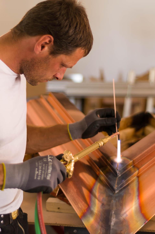 Erno demonstrates his welding