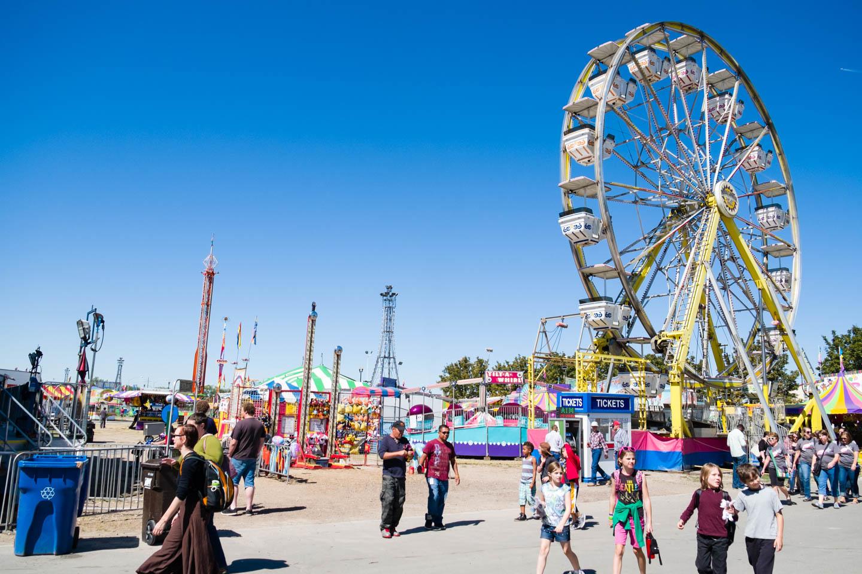 Ferris Wheel and rides at the Utah State Fair