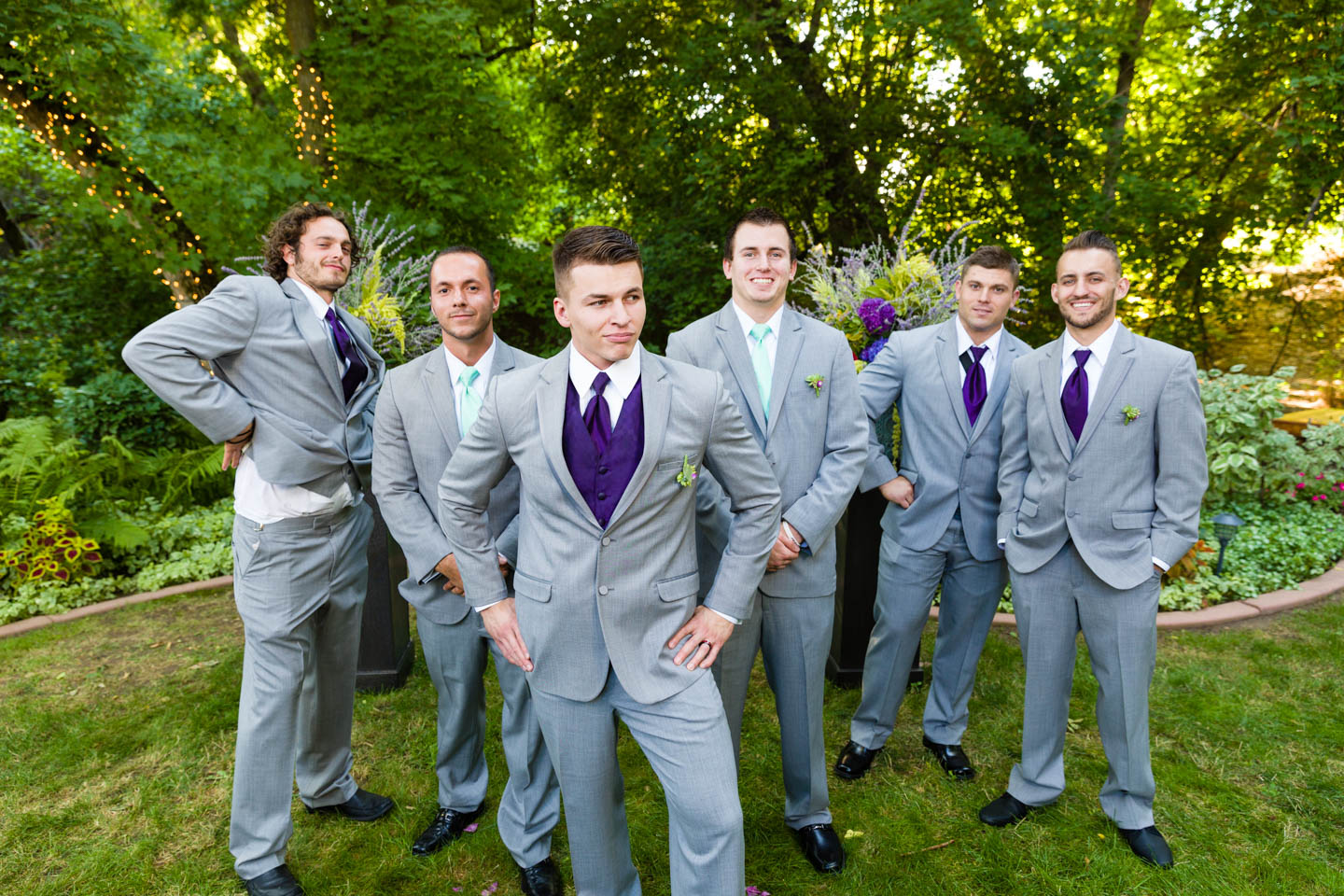 Going for the GQ look with the groomsmen