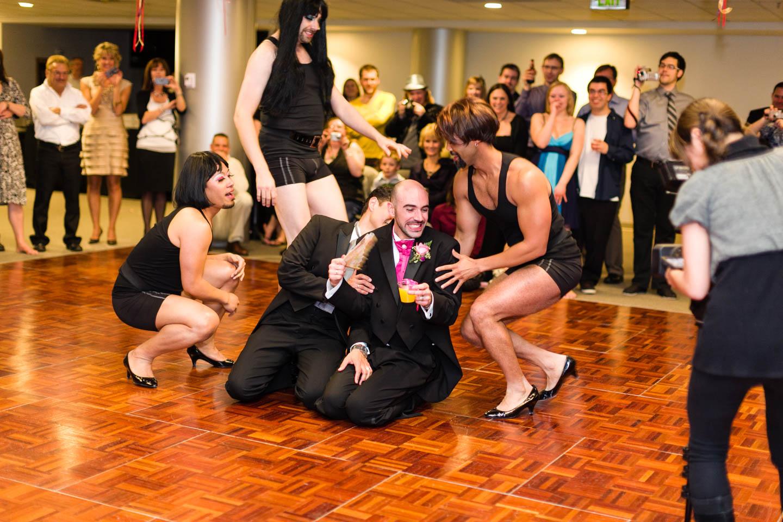 Wedding reception hilarity