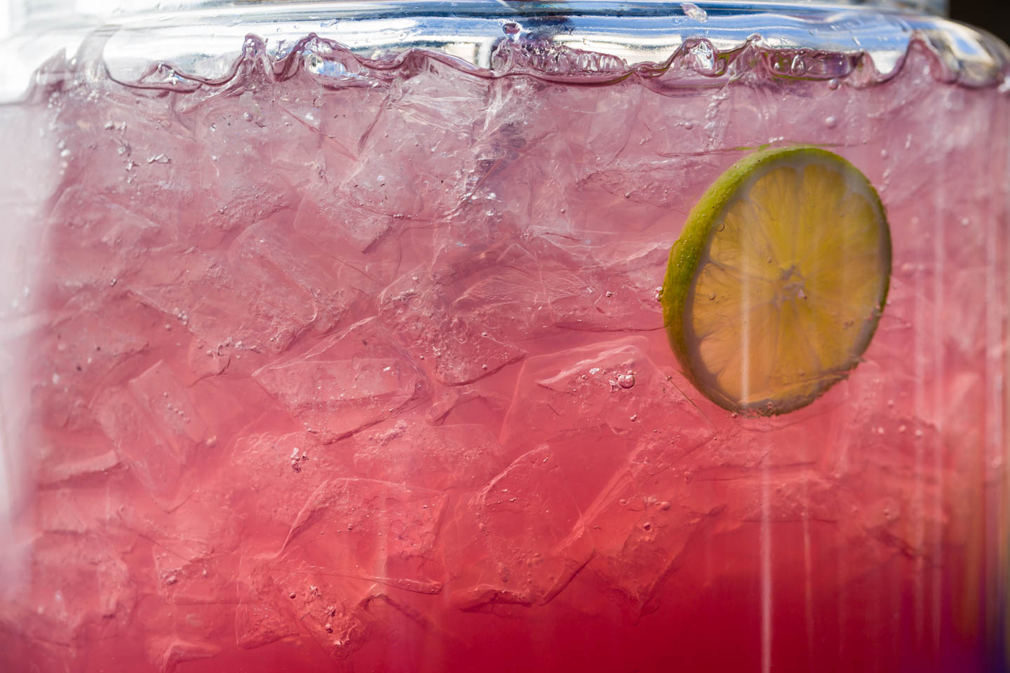 Infused water with lime