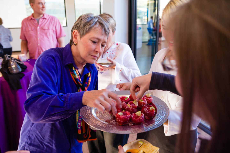 Sampling Strawberry Margarita Jell-O Shooters