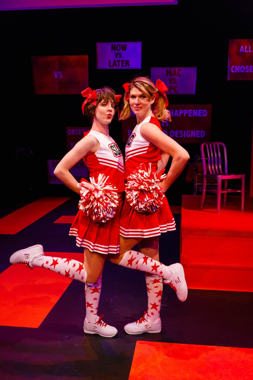 Cheerleaders pop in with atheist cheers