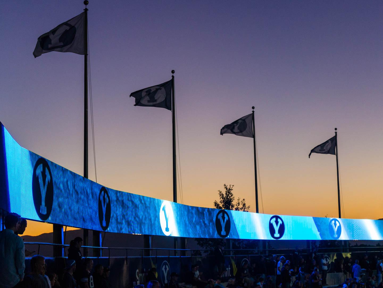 Sunset over Lavell Edwards Stadium