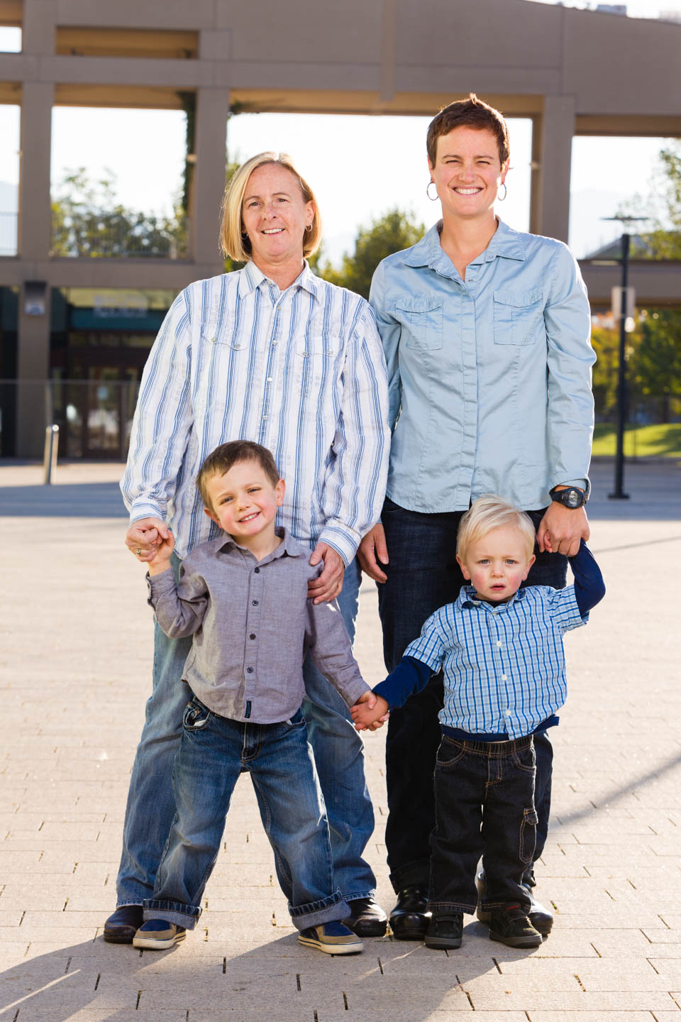 Family portraits at the Salt Lake Library