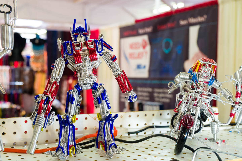 Transformer art for sale at the Utah State Fair