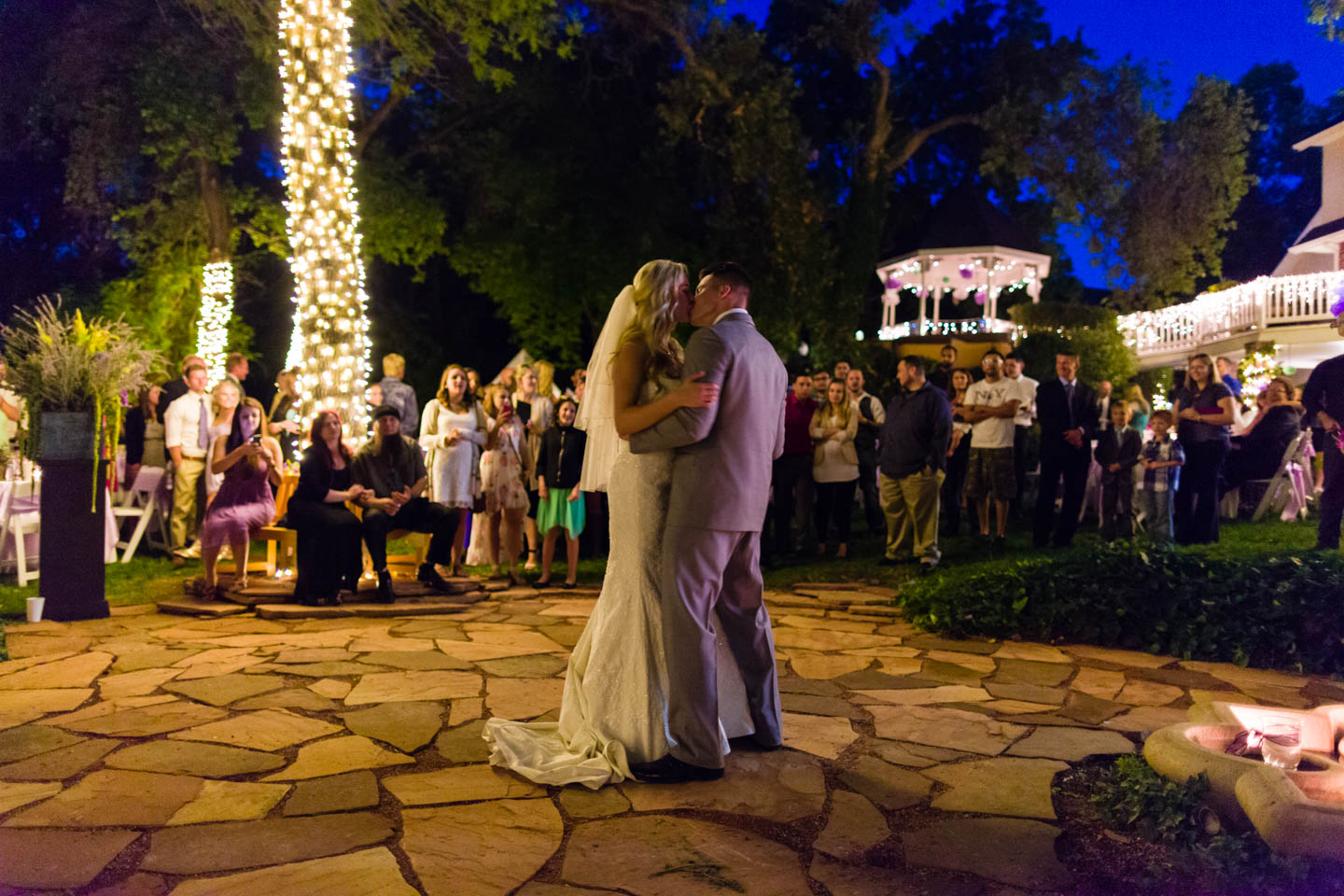 The first dance for the newly married couple