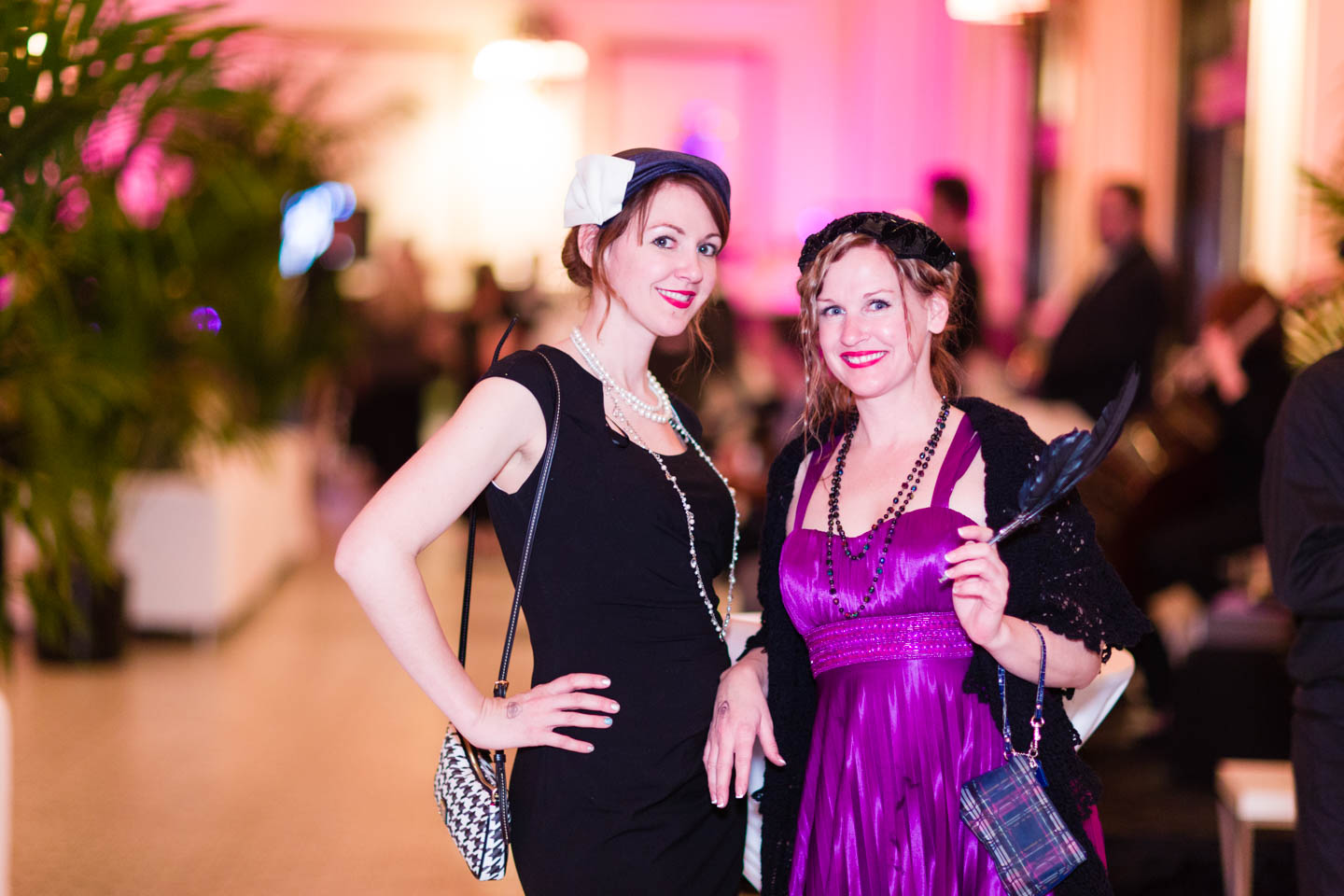 Dressed for a speakeasy in the 1920s