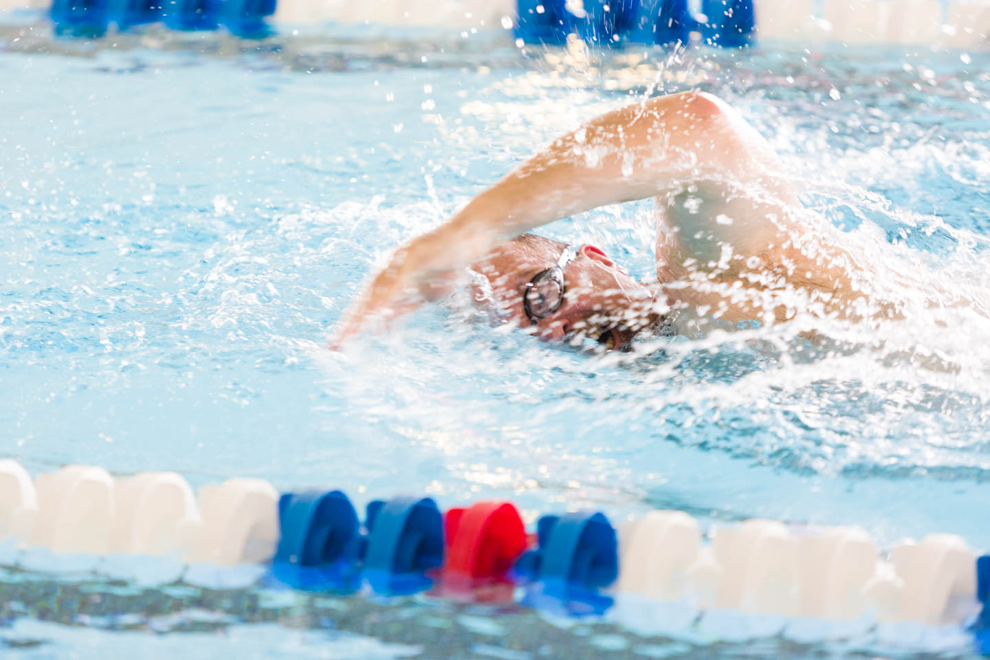 Trying to time the breaststroke for photography
