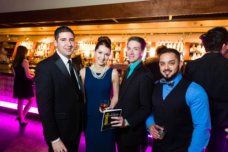 Group photo at the bar