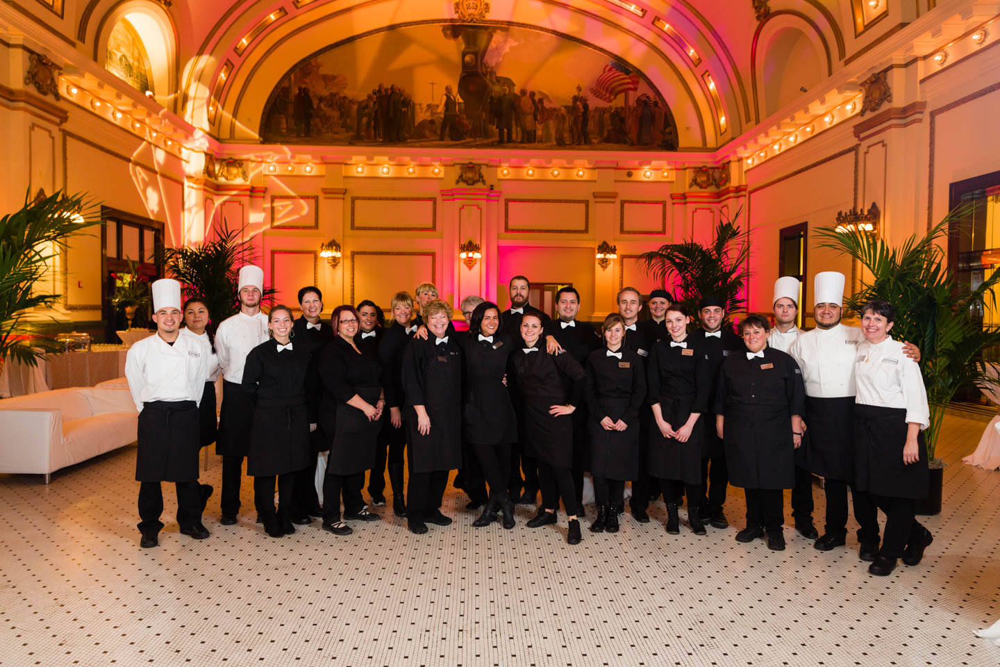 The great team of Le Croissant Catering