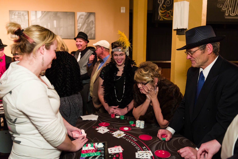 Playing blackjack