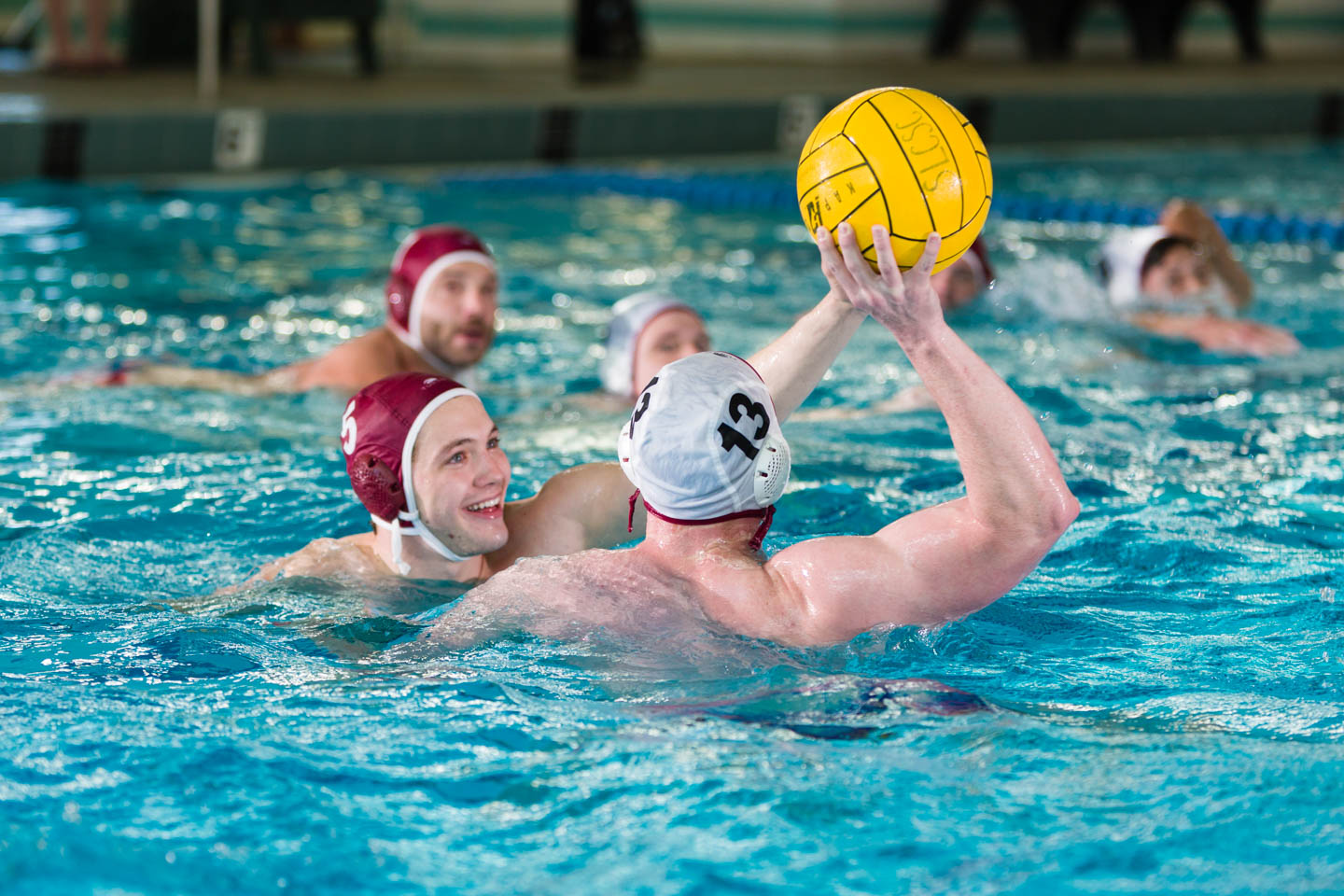 Offense and defense in water polo