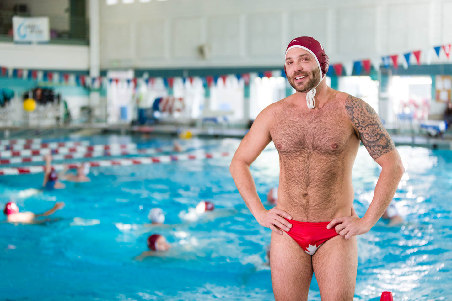 A Canadian water polo player came to the Ski-n-Swim