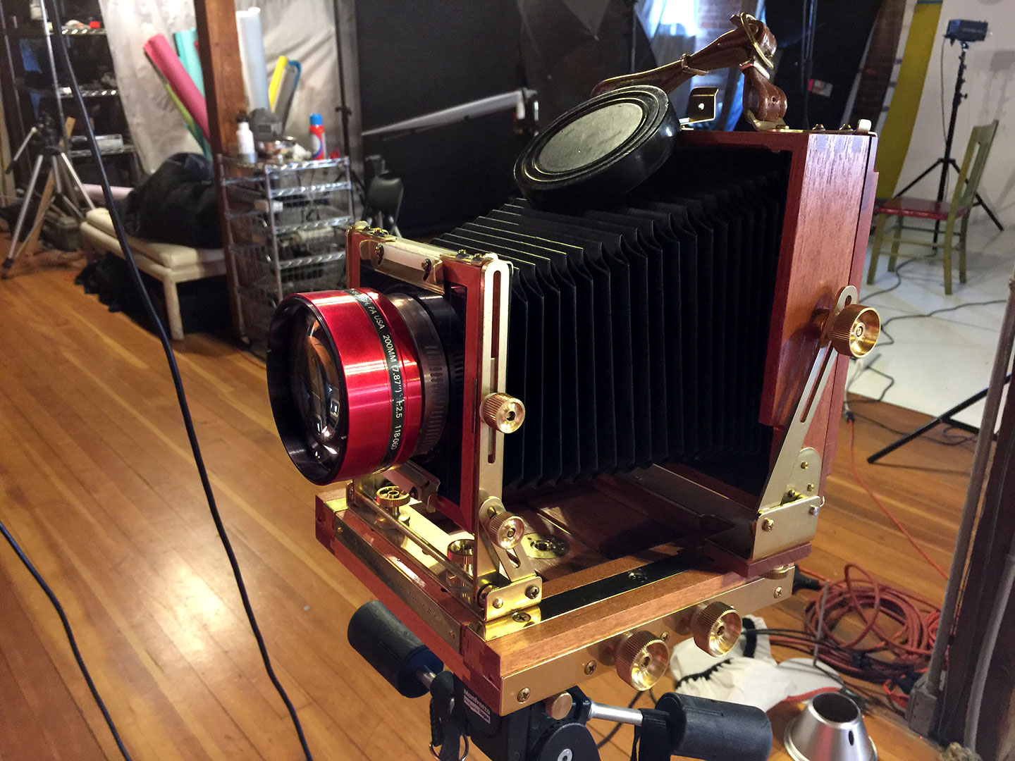 4x5 Large format view camera for the test shot