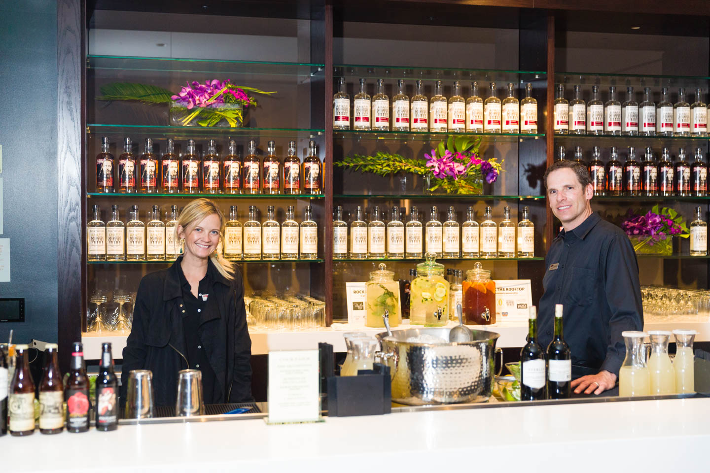 Bartenders or mixologist and they're ready to make your drink