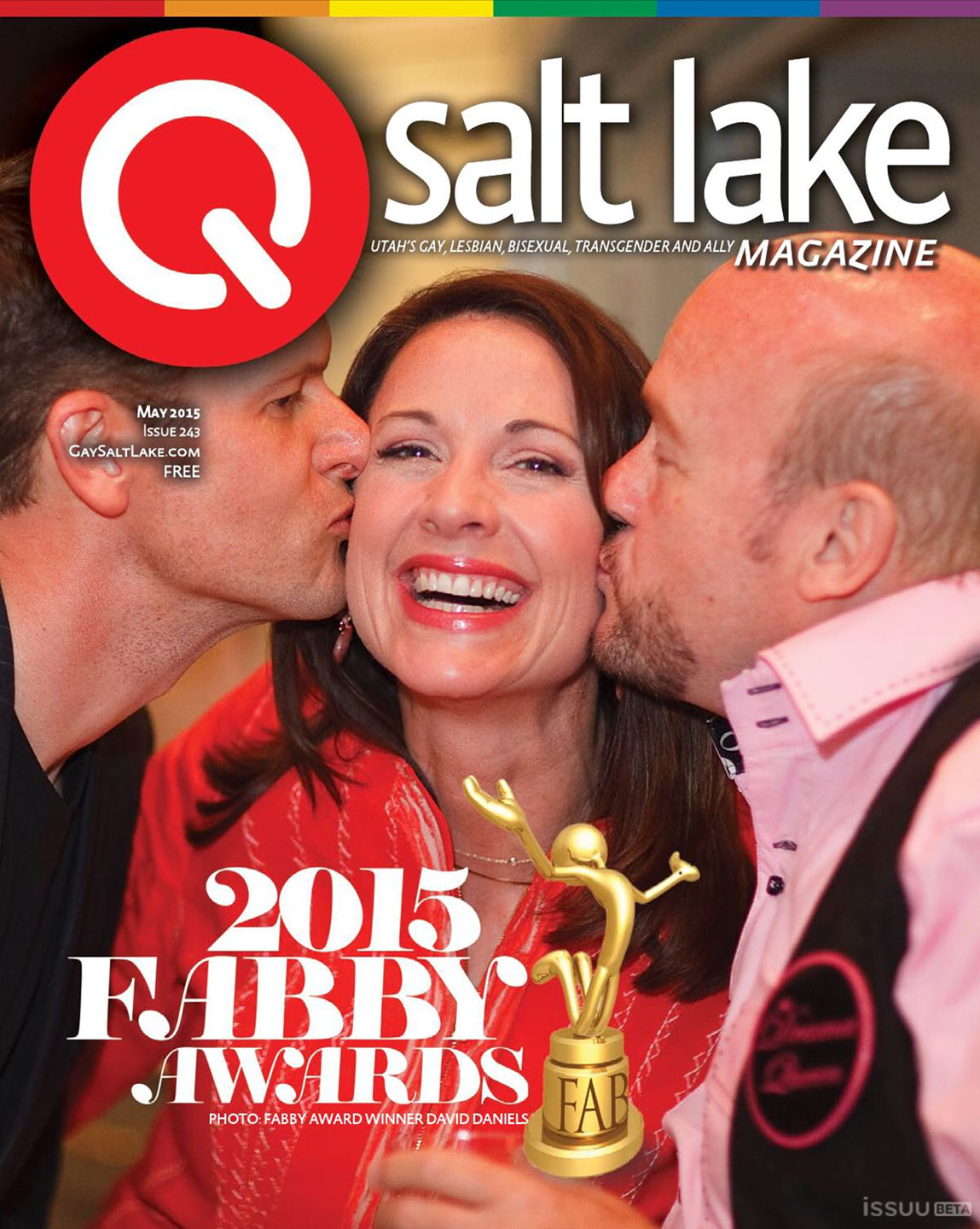 Cover of the QSalt Lake Magazine and photo by dav.d