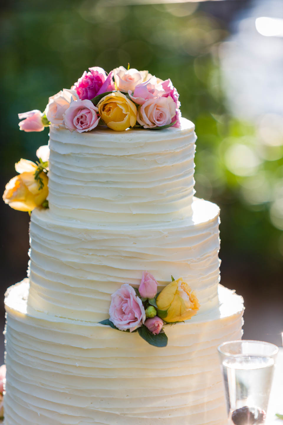 Natural light photography for this wedding cake