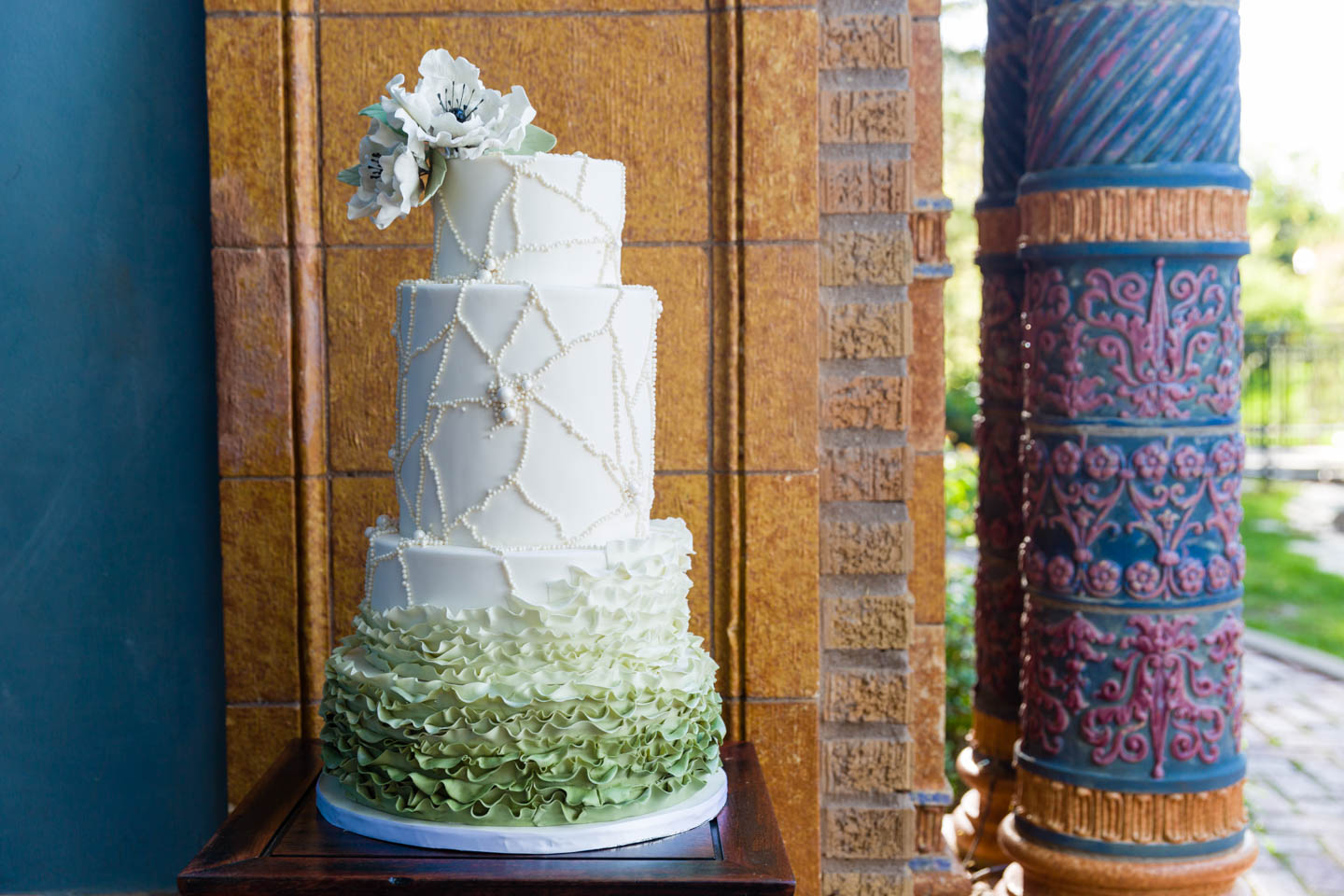 4-layer wedding cake