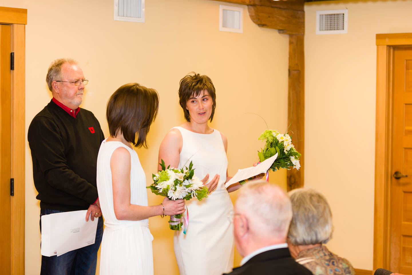Sharing the wedding vows