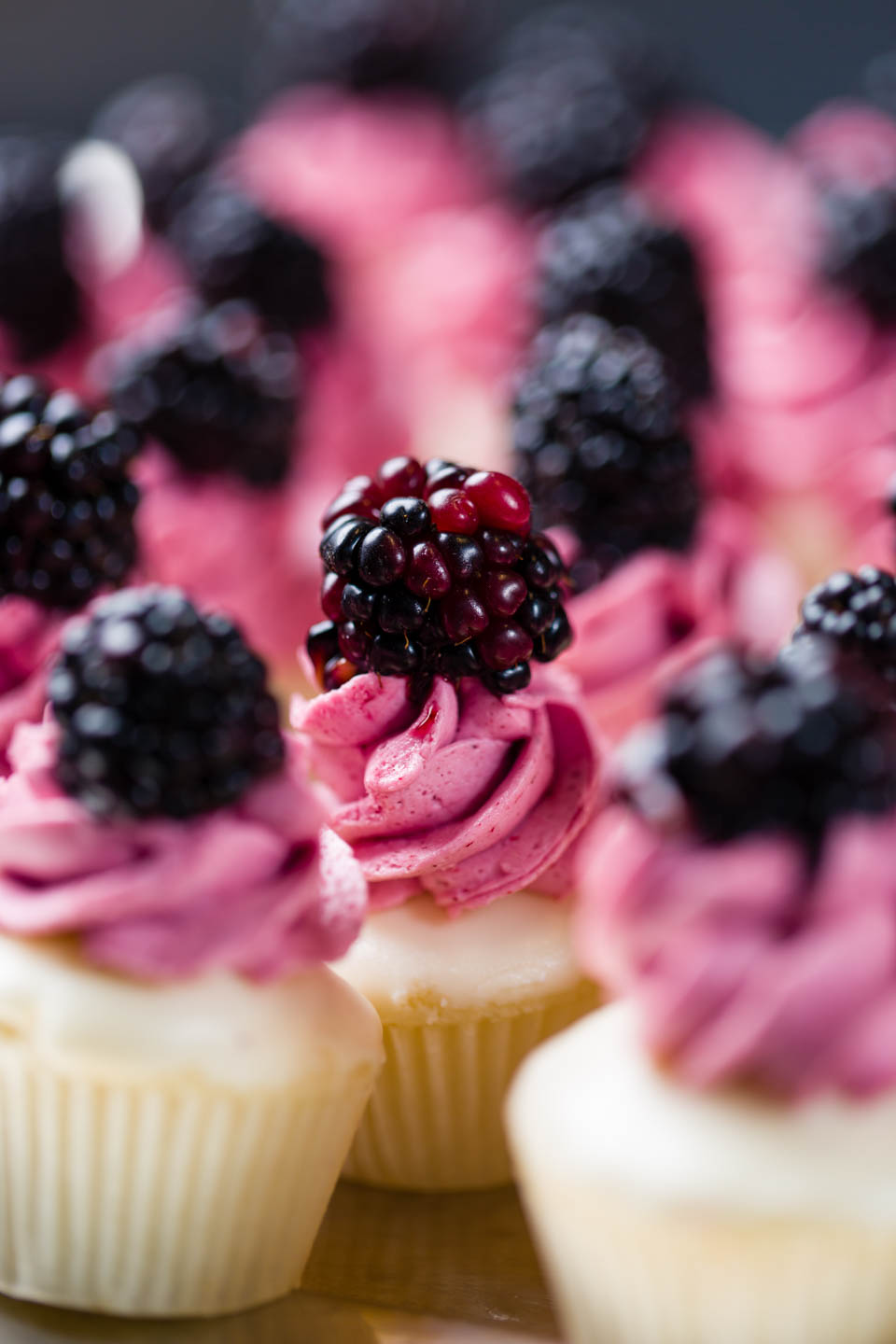 Blackberry mini cupcakes