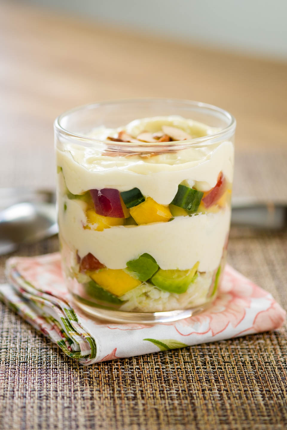 Fruit and veggie parfait