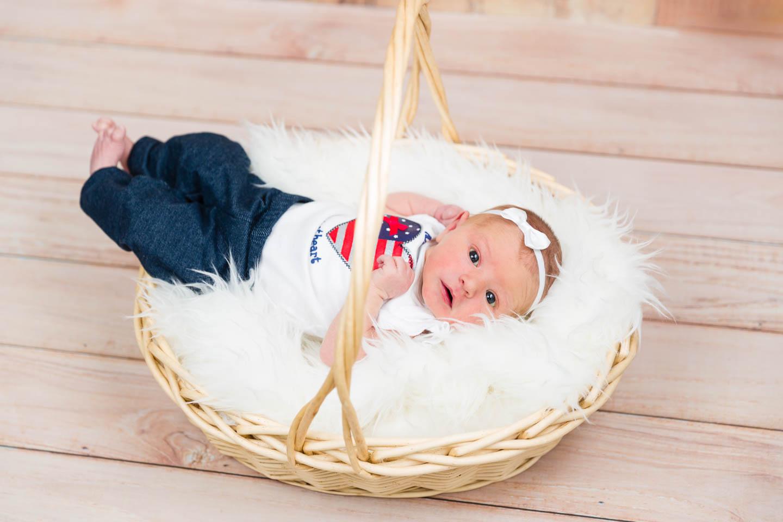 Newborn baby Harper