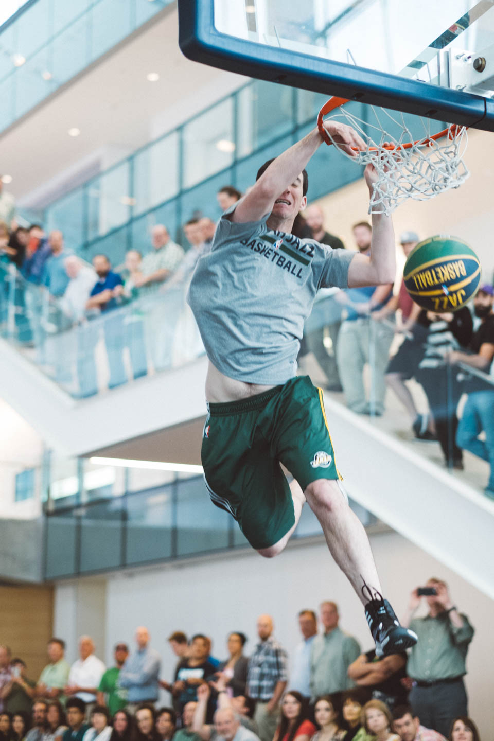 Dunk Team performs for a company in Provo