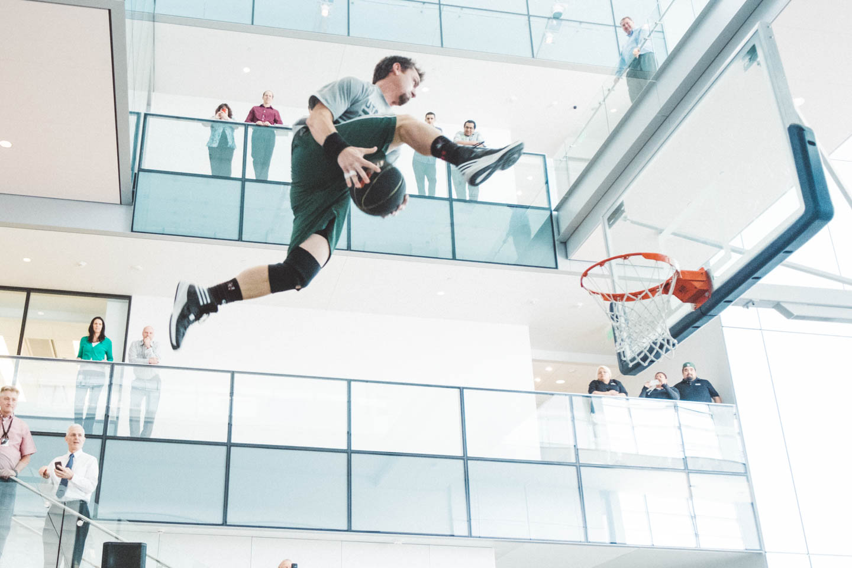 Between the legs dunk