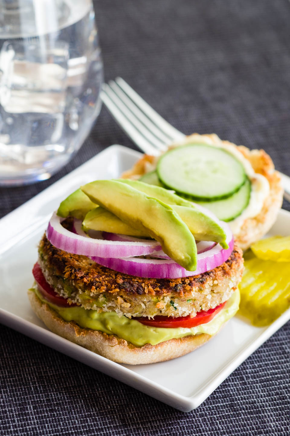 Zucchini Garden Burgers With Avocado Aioli