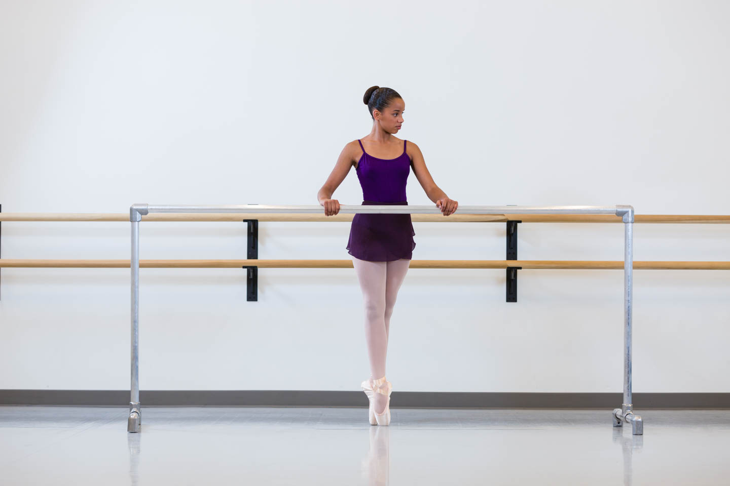Ballet West students in studio