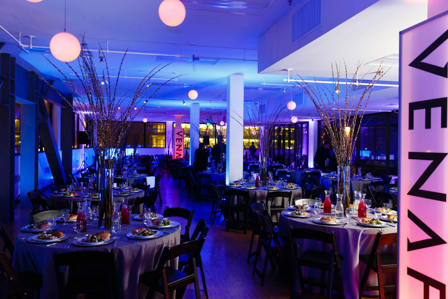 Banquet designed by Le Croissant Catering