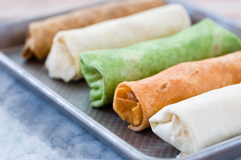 Rolled burritos