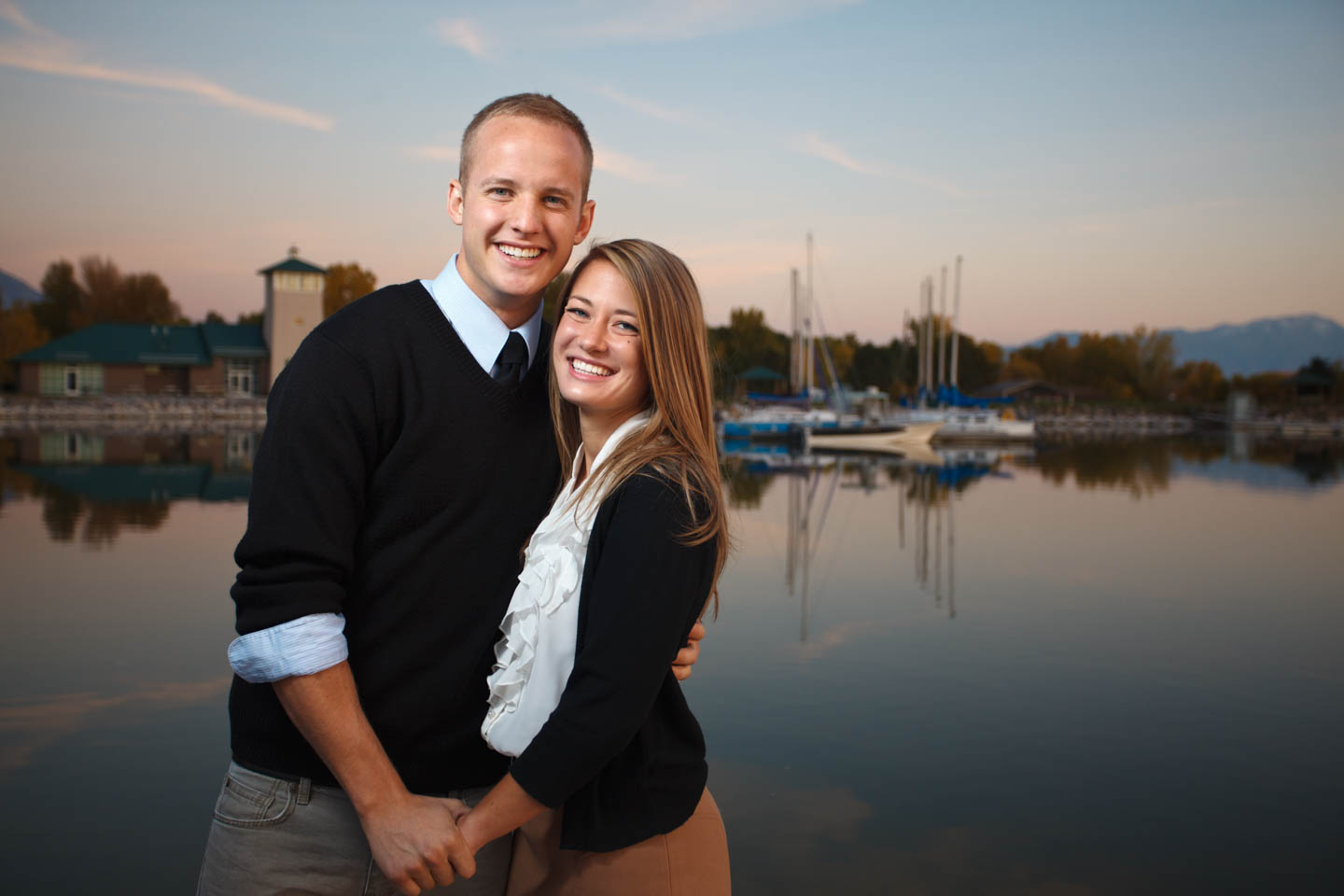 Engagement photography by Utah Lake Marina