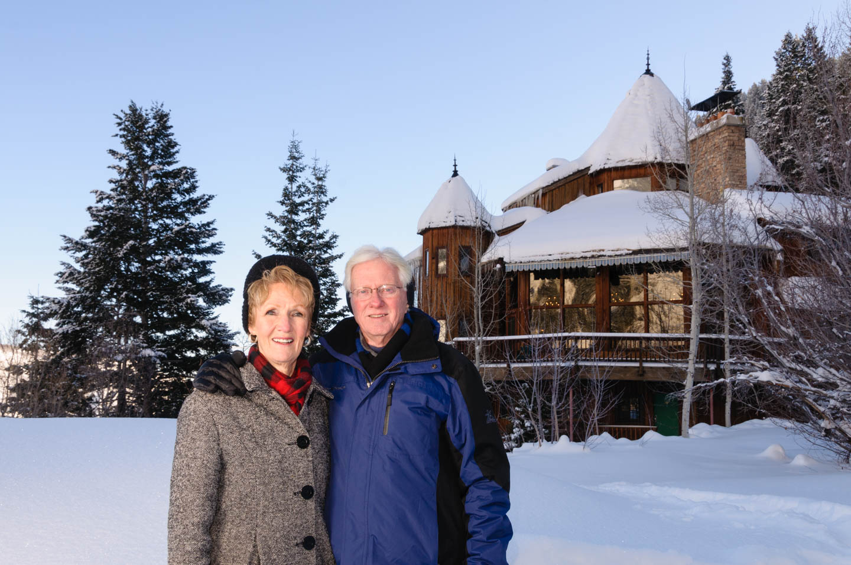Family portraits at the Sundance lodge