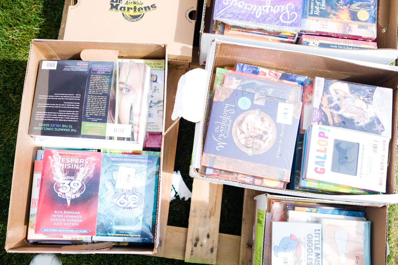 Donated books for children