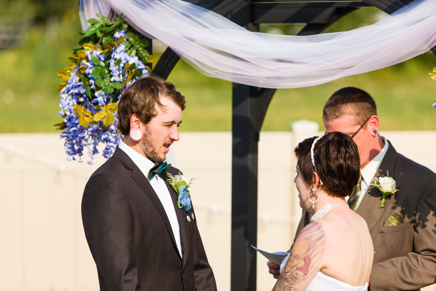 Groom shares wedding vow