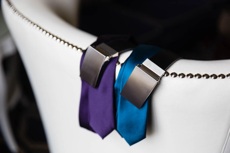 Grooms' belts and ties