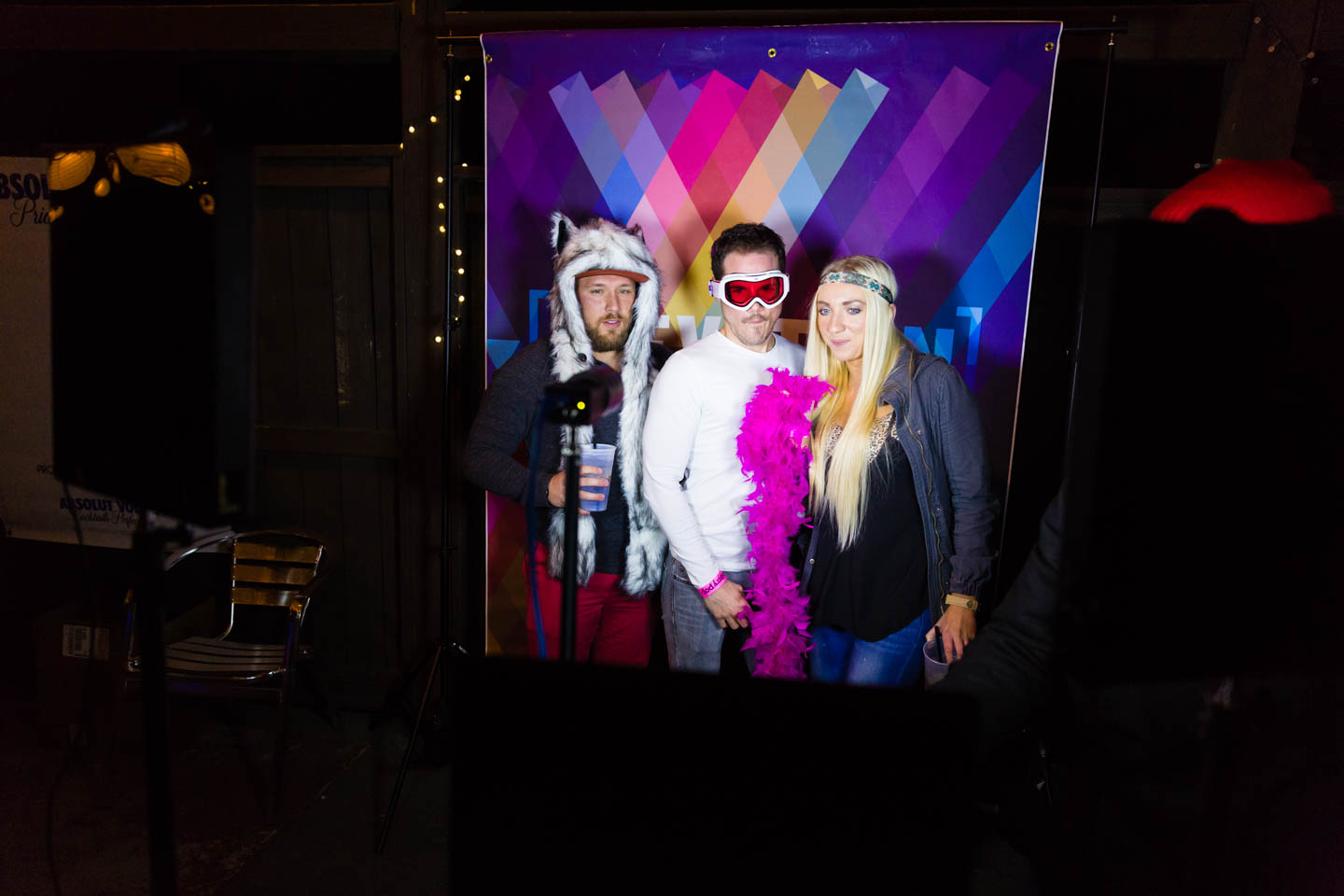 A photobooth was set up for folks